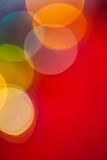Mehrfarbiges bokeh Weihnachten Copyspace-Bildes Lizenzfreies Stockfoto