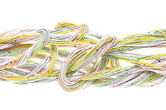 Mehrfarbiges Computernetzwerkkabel Stockbilder