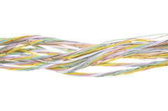 Mehrfarbiges Computernetzwerkkabel Stockbild