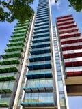 Mehrfarbiges Gebäude Lizenzfreie Stockfotos