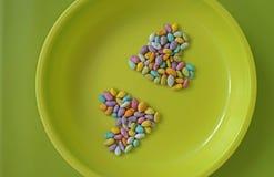 Mehrfarbiges Herz vom Samen lizenzfreie stockfotos