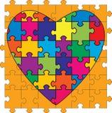 Mehrfarbiges Inner-geformtes Puzzlespiel stock abbildung