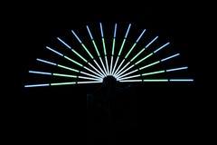 Mehrfarbiges Lichthalbrund stockbilder