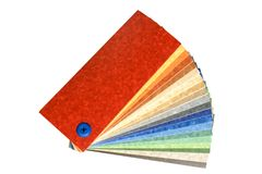 Mehrfarbiges Linoleum der Ansammlung Lizenzfreies Stockbild