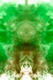 Mehrfarbiges Muster des Rauches vom Grünen und das orange vektor abbildung