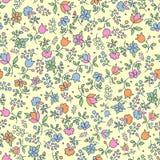 Mehrfarbiges nahtloses mit Blumenmuster Stockbild