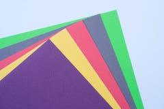 Mehrfarbiges Papier Stockfoto