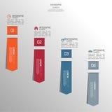 Mehrfarbiges Papieraufklebervolumen mit Zahlen Lizenzfreies Stockbild