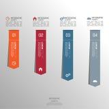 Mehrfarbiges Papieraufklebervolumen mit Zahlen Stockfotos