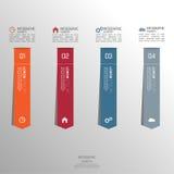 Mehrfarbiges Papieraufklebervolumen mit Zahlen Stockfotografie