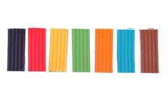 Mehrfarbiges plastlin Lizenzfreie Stockbilder