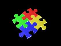 Mehrfarbiges Puzzlespiel Lizenzfreies Stockbild