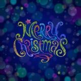 Mehrfarbiges Weihnachtsgrußzeichen Stockfotografie