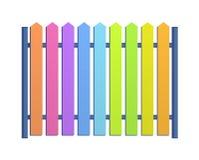 Mehrfarbiges Zaunillustrationsmuster Stockbilder