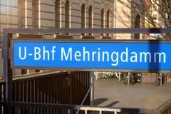 Mehringdamm subway station sign berlin germany Stock Image