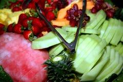 Mehrlagenplatte der frischen Frucht Stockfoto