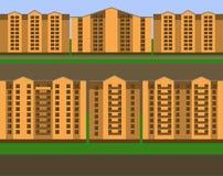 Mehrstöckige Häuser Stockbild