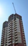 Mehrstöckiges Gebäude im Bau Aufbau von Wohnbu Bau der modernen Wohnung Gebäudegeschäft Lizenzfreie Stockfotografie