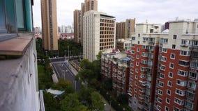 Mehrstufige Highrise Wohnung Shanghais stock footage