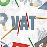 Mehrwertsteuerfinanzgeschäftshintergrund Stockbilder