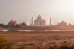 Mehtab Bagh Widok Taj Mahal w wieczór Fotografia Royalty Free