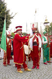 Mehter band preparation for the ceremony Royalty Free Stock Image
