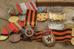 9 mei – Overwinningsdag van Sovjetmensen in Grote Patriottische oorlog van 1941-1945 Stock Foto