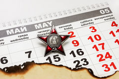 9 Mei aan Victory Day Stock Afbeelding