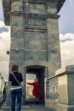 4 mei, 2015 de gang van Rusland, Moskou in het park na Gorky wordt genoemd dat royalty-vrije stock foto's