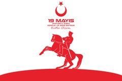 19 mei de Herdenking van Atatà ¼ rk en de Jeugd en Sportendag vector illustratie