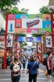 24 mei, 2017 de mening van Ximending-het winkelen straat in Taipeh, Ta Royalty-vrije Stock Fotografie
