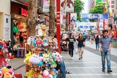 24 mei, 2017 de mening van Ximending-het winkelen straat in Taipeh, Ta Royalty-vrije Stock Foto
