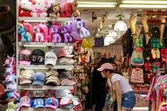 24 mei, 2017 de mening van Ximending-het winkelen straat in Taipeh, Ta Stock Fotografie