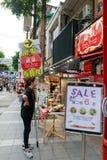 24 mei, 2017 de mening van Ximending-het winkelen straat in Taipeh, Ta Stock Afbeelding