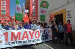 1 Mei-demonstratie 23 Stock Foto's