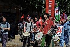 1 Mei-demonstratie 30 Stock Foto's