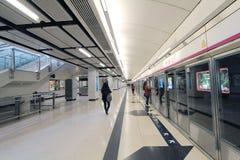 Mei Foo MTR station in Hong Kong Stock Photos