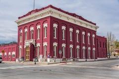 11 Mei 2015 Het Hof Huis, 1879 in de vroegere mijnbouw wordt gebouwd die Stock Foto