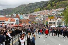 17 mei, 2016: Nationale dag in Noorwegen Royalty-vrije Stock Foto