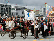 17 mei, 2016: Nationale dag in Noorwegen Stock Fotografie