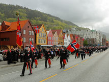 17 mei, 2016: Nationale dag in Noorwegen Royalty-vrije Stock Afbeelding