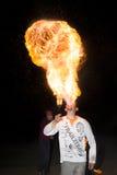 3 mei, 2014 Ulan-Ude, Rusland: een brand toont in de stad van ulan-U Royalty-vrije Stock Foto