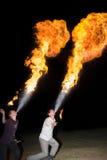 3 mei, 2014 Ulan-Ude, Rusland: een brand toont in de stad van ulan-U Royalty-vrije Stock Afbeeldingen