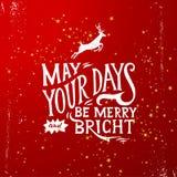 Mei uw vrolijk en heldere dagen - van letters voorziend royalty-vrije illustratie