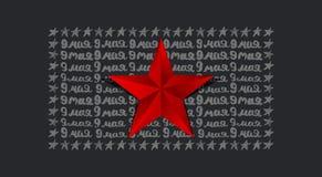 9 mei Victory Day Malplaatje voor Groetkaart, schets Royalty-vrije Stock Foto