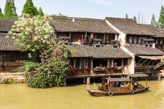 Mei 2013 - Wuzhen, China - Wuzhen is één van de beroemdste waterdorpen van China Stock Afbeelding