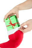 Meia do Natal Imagens de Stock