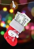 Meia do Natal Imagens de Stock Royalty Free