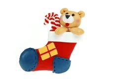 Meia do Natal Fotos de Stock