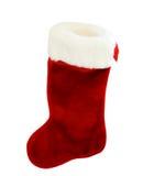Meia do Natal vermelho e branco Imagens de Stock Royalty Free